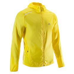 Windjack voor hardlopen heren Run Wind geel