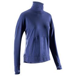 女款長袖T恤Run Dry Plus - 藍色