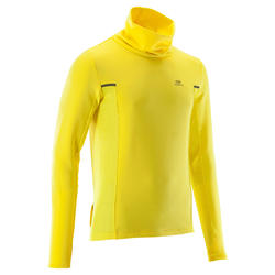 RUN WARM+ men's running pullover high-collar yellow