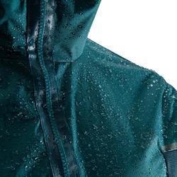 Chaqueta impermeable y cortaviento running hombre RUN RAIN BREATH verde