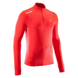 Men's Running Long-Sleeved T-Shirt Run Warm - red