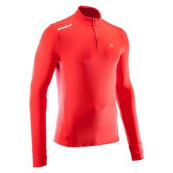 Loopshirt met lange mouwen voor heren Run Warm rood