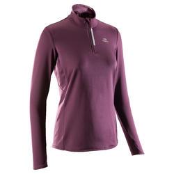 Shirt lange mouwen voor dames jogging Run Warm pruimkleurig