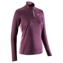 Women's Jogging Long-Sleeved Jersey Run Warm - Plum