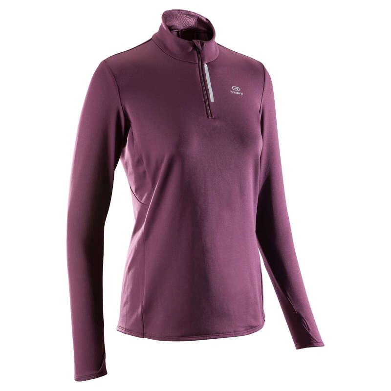 WOMAN JOGGING COLD PROTECTION CLOTHES Clothing - RUN WARM JERSEY KALENJI - Tops