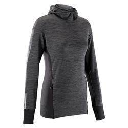 RUN WARM HOODED WOMEN'S JERSEY - BLACK