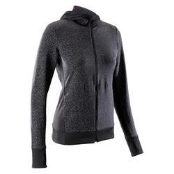 Laufjacke Run Warm Night Damen schwarz reflektierend