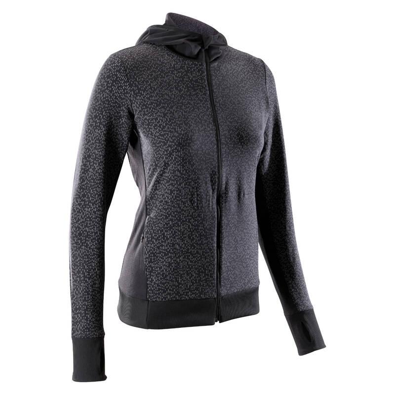 DÁMSKÉ OBLEČENÍ NA JOGGING DO CHLADNÉHO POČASÍ, PRAVIDELNÉ POUŽITÍ Běh - BUNDA RUN WARM NIGHT KALENJI - Běžecké oblečení