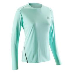 Run Sun Protect Women's Long-sleeved Running Jersey - Light Green