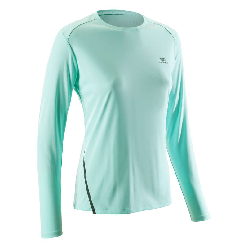 ABBIGLIAMENTO TRASPIRANTE DONNA RUNNING OCCASIONALE Running, Trail, Atletica - T-shirt donna SUN PROTECT KALENJI - Abbigliamento Running