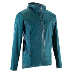 Lauf-Regenjacke Windstopper Run Rain Breath Herren grün