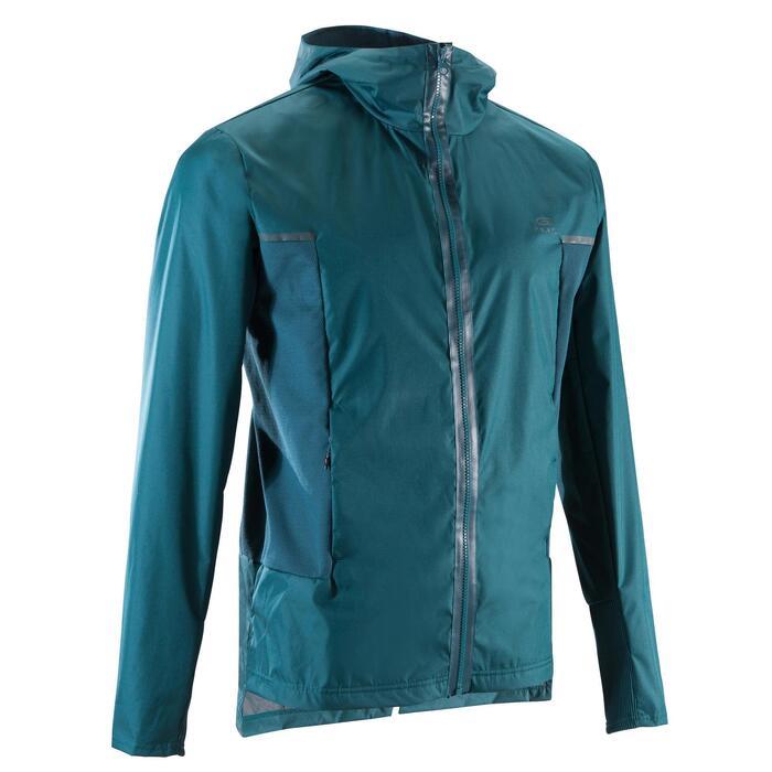 Water- en winddichte joggingjas voor heren Run Rain Breath zwart