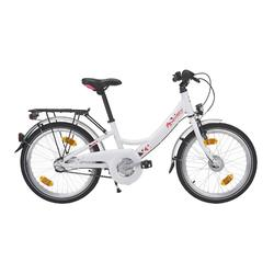 "Kinderfahrrad 20"" City Bike Decsy Wave Alu weiss/pink"