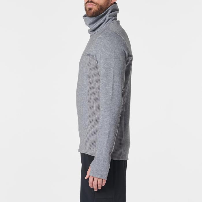 Laufsweater Run Warm+ Herren dunkelgrau