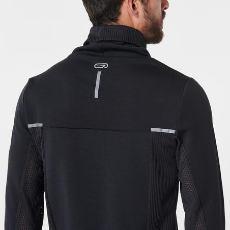 RUN WARM+ men's running pullover high-collar black