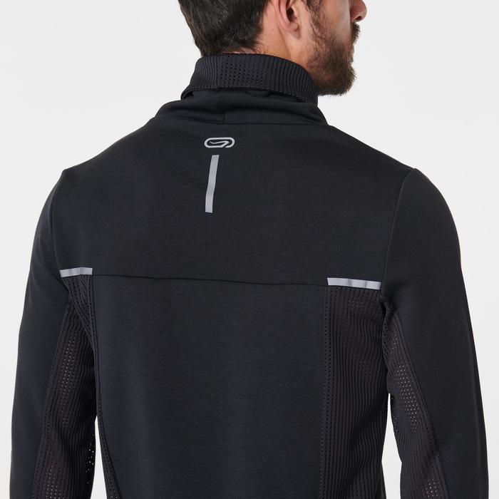 Sweat col montant jogging homme RUN WARM+ Noir