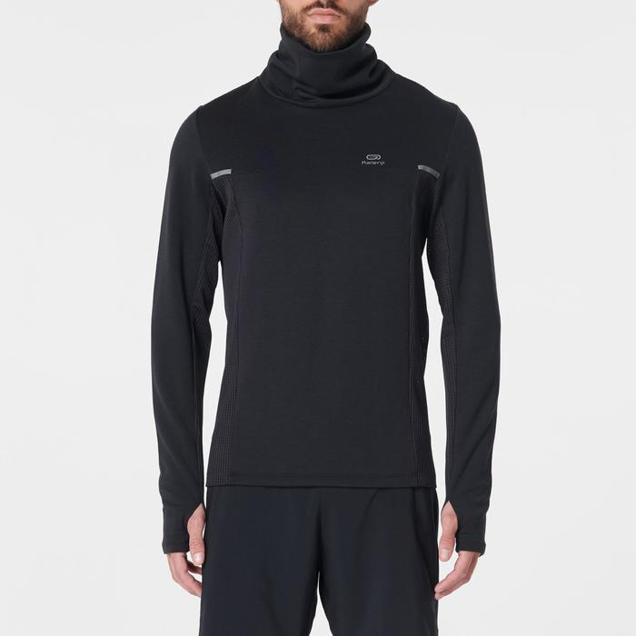 RUN WARM+ men's running pullover high-collar black