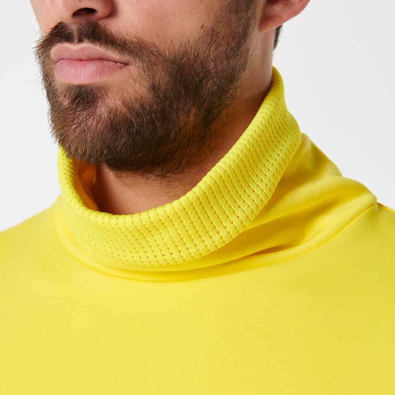 RUN WARM+ men's running pullover high-collar yellow