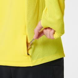 Hardloopsweater voor heren met hoge kraag Run Warm+ geel