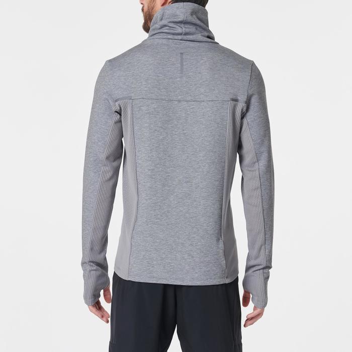 男款跑步高領立領針織衫RUN WARM+斑駁灰