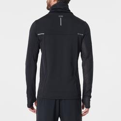 男款跑步高領立領針織衫RUN WARM+黑色