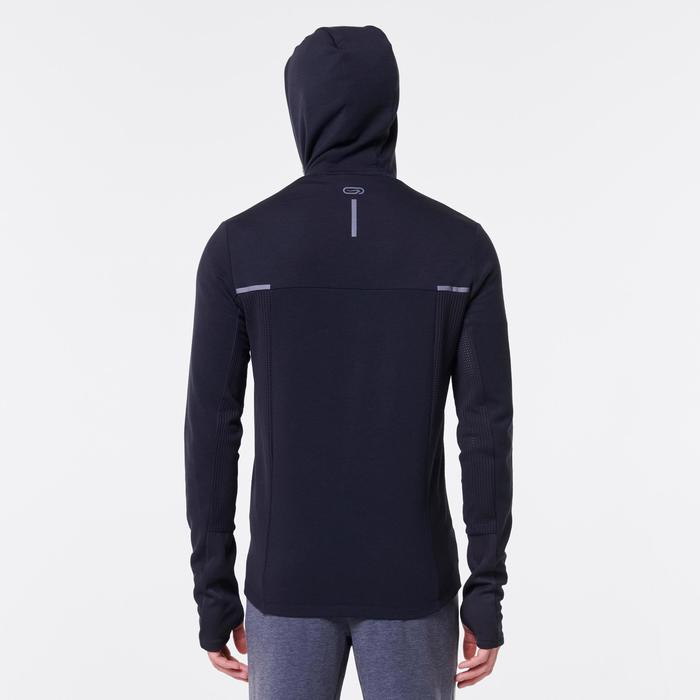 Veste jogging homme RUN WARM+ noir