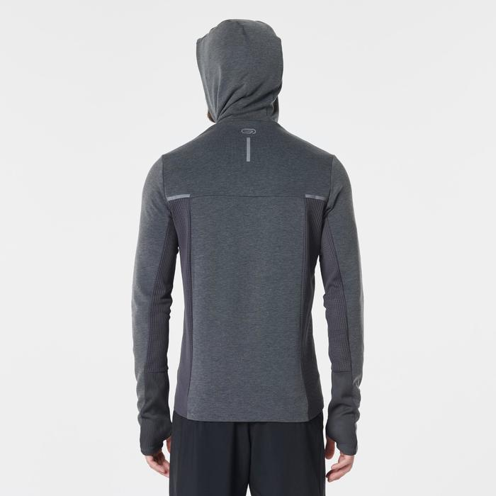 Veste jogging homme RUN WARM+ gris chiné