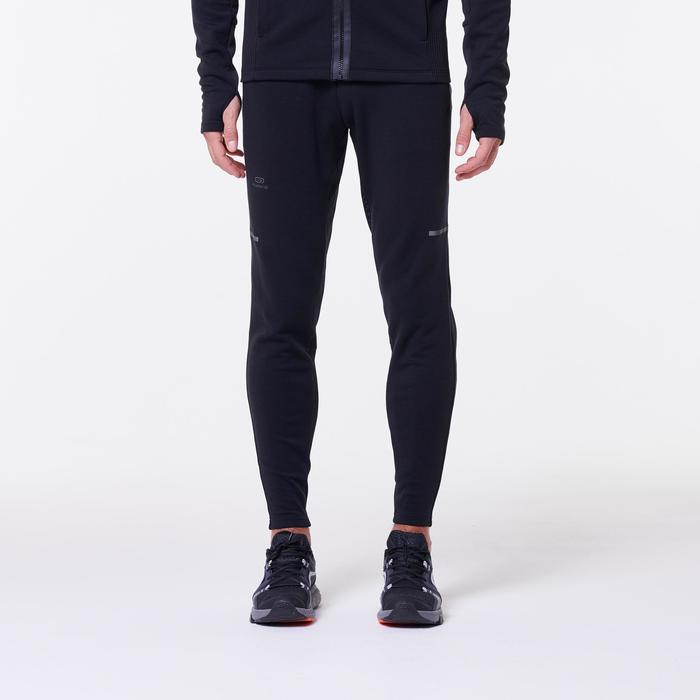 Joggingbroek voor heren Run Warm+ zwart