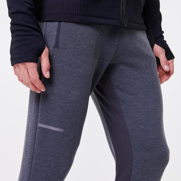Hardloopbroek voor heren Run Warm+ gemêleerd grijs