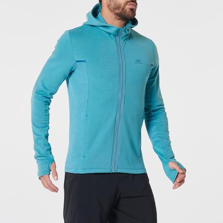 Veste jogging homme COURSE CHAUD+ vert
