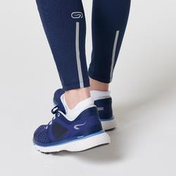 COLLANT CHAUD JOGGING FEMME RUN WARM + BLEU