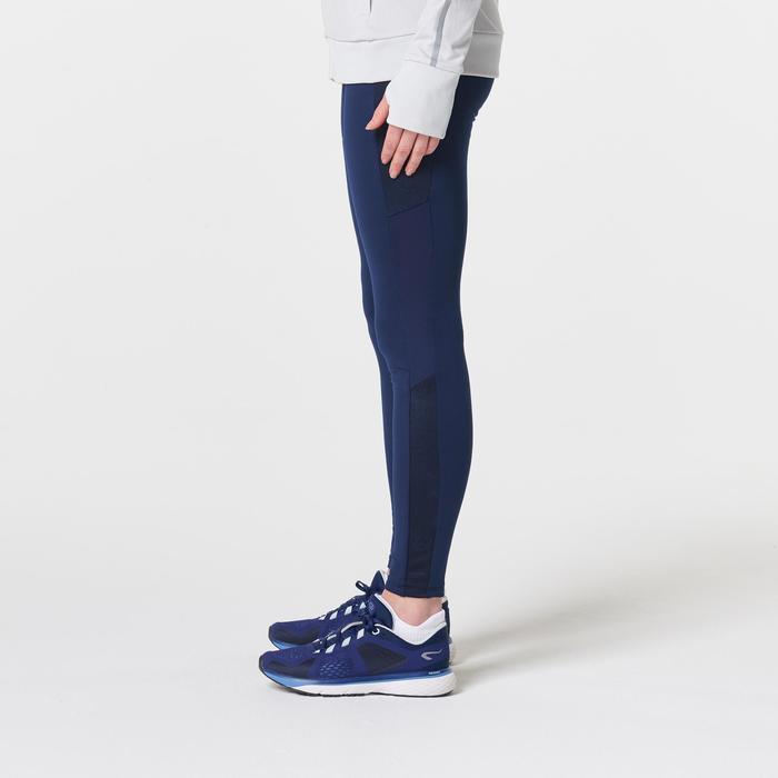 Warme hardloopbroek voor dames Run Warm+ blauw