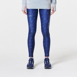 Mallas Térmicas Leggings Deportivos Running Kalenji Run Dry+ Mujer Azul