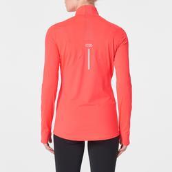 Hardloopshirt voor dames Run Dry+ met lange mouwen en rits roze