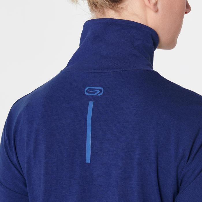 女款長袖T恤RUN DRY+ FEEL - 藍色
