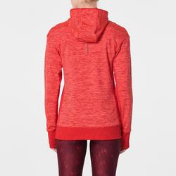 SWEAT CAPUCHE RUN WARM FEMME ROUGE