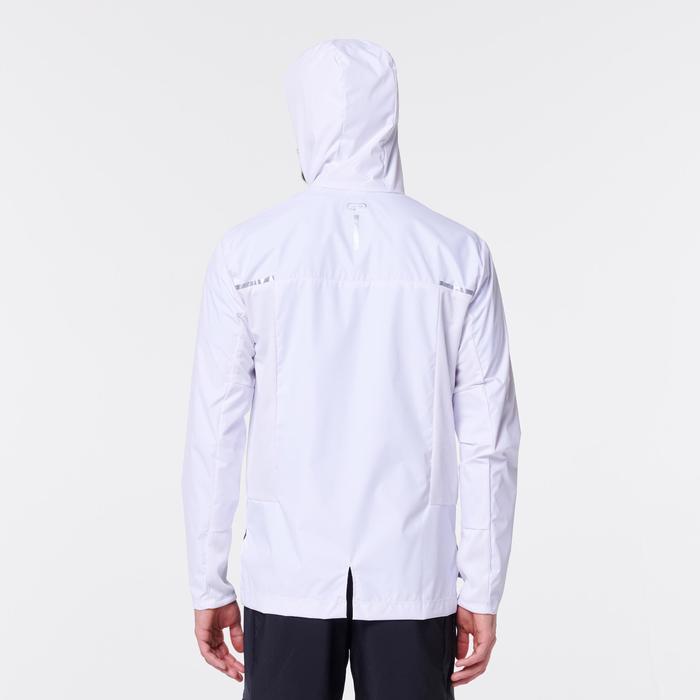 男款慢跑防風防雨外套Run Rain Breath - 白色