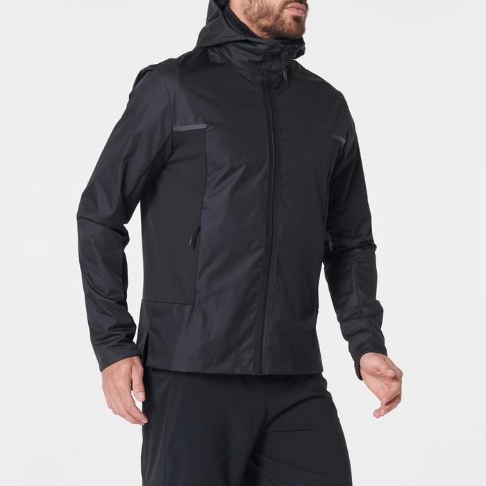 Water- en winddicht joggingjack voor heren Run Rain Breath zwart