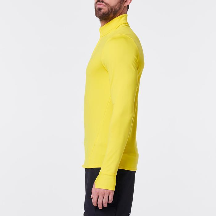 Hardloopshirt met lange mouwen voor heren Run Warm geel