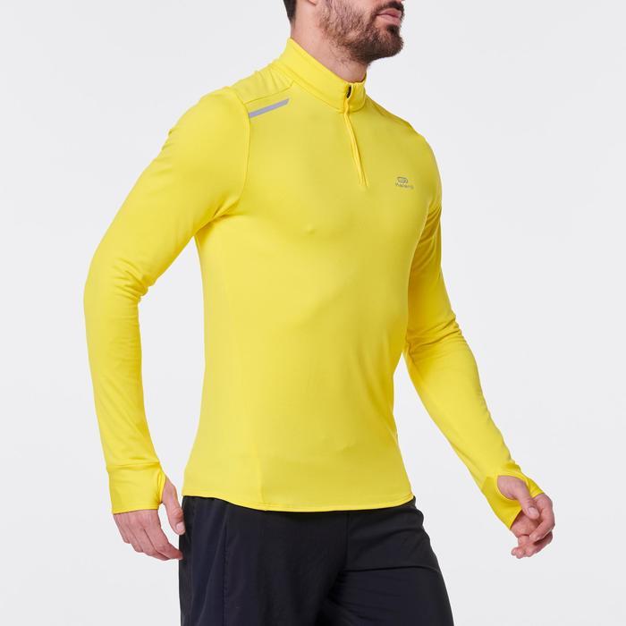 Laufshirt Langarm Run Warm Herren gelb