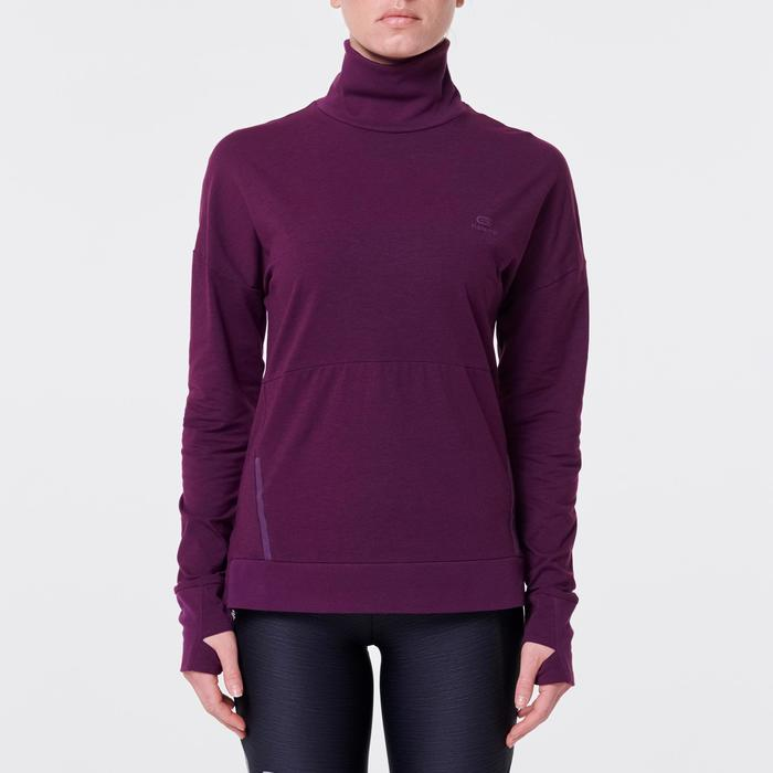 Shirt met lange mouwen Run Dry Plus dames paars