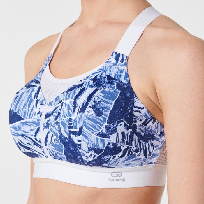 Hardloopbeha Comfort blauw met camouflageprint