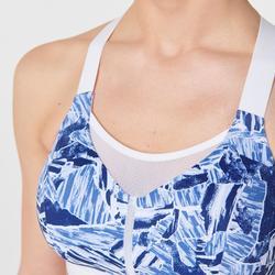 Sport-BH Bustier Komfort blau camouflage
