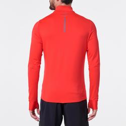 TEE SHIRT MANCHES LONGUES RUNNING HOMME RUN WARM ROUGE