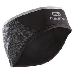 Lauf-Stirnband mit Ohrenschutz schwarz
