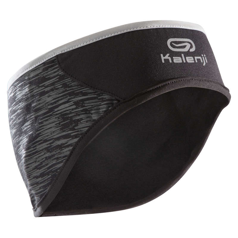 RUNNING COLD PROTECT ACCESSORIES Running - WARM HEADBAND - BLACK KALENJI - Running Clothing