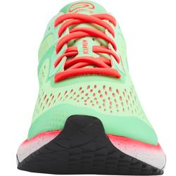 Hardloopschoenen voor dames Kiprun KD Light groen/koraal