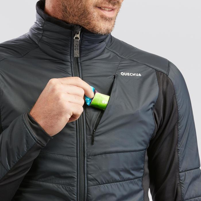 Veste polaire hybride de randonnée neige homme SH900 X-warm noire.