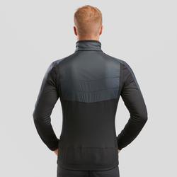 Men's Hybrid Snow Hiking Fleece Jacket SH900 X-Warm - Black.