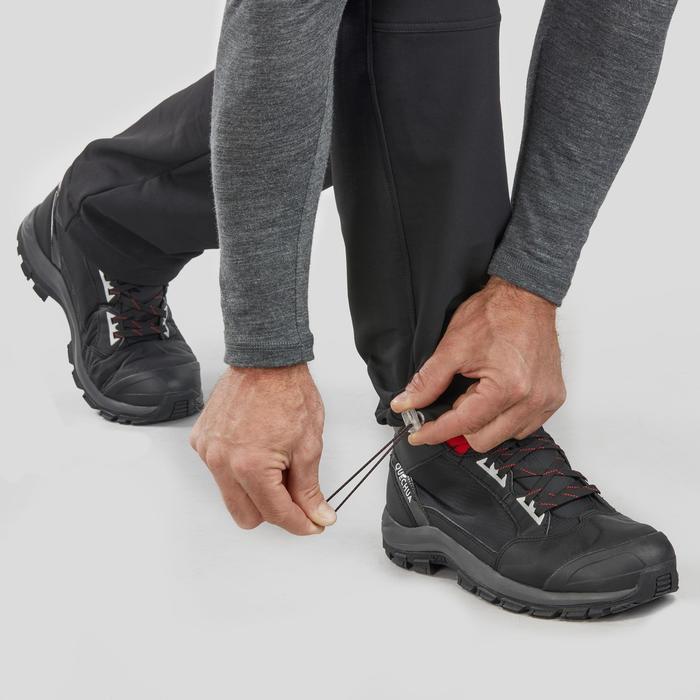 Pantalon chaud de randonnée homme SH500 x-warm stretch noir.